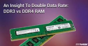 background of DDR3 vs DDR4 gaming ram