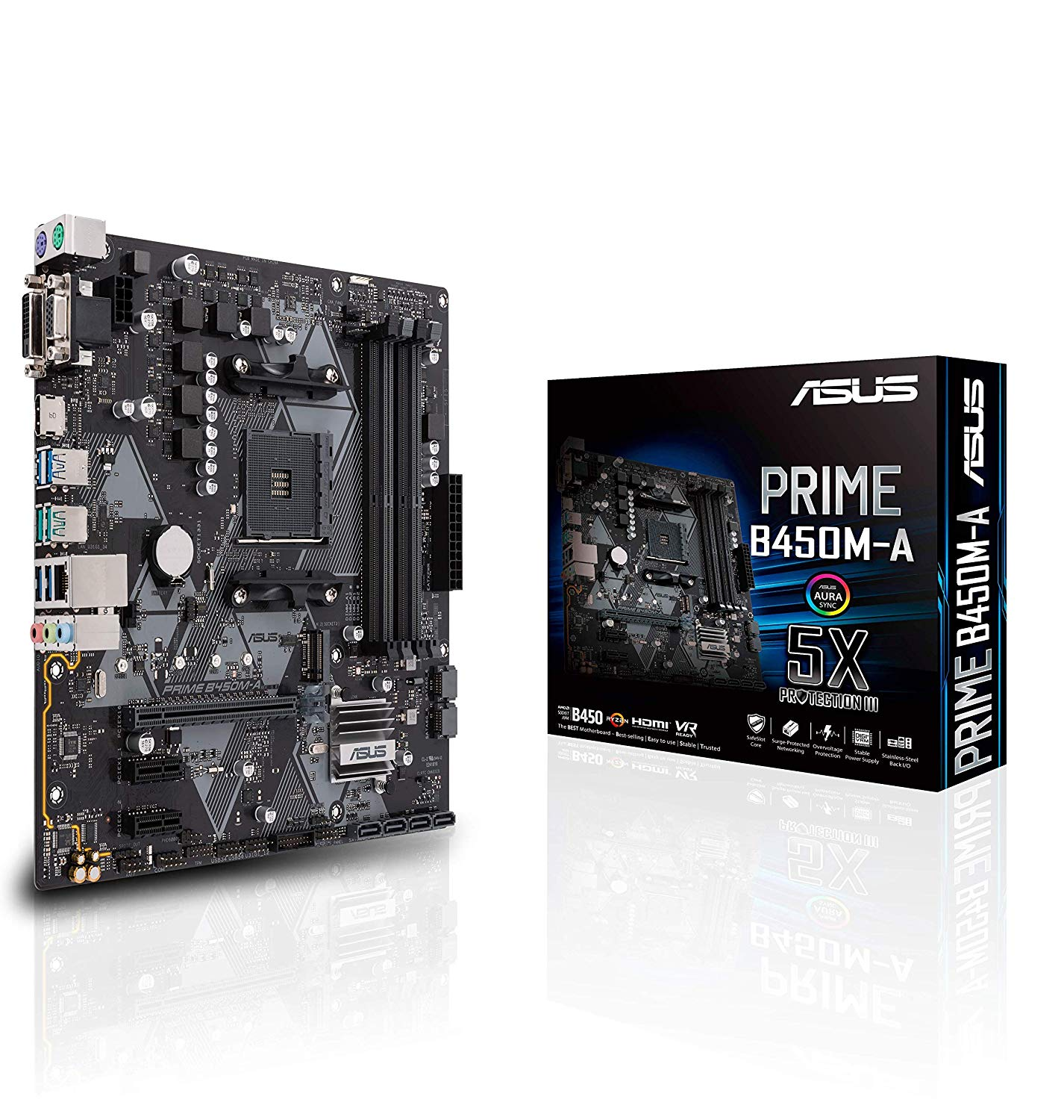 ASUS Prime B450M-A - best motherboard for Ryzen 7 2700x processor