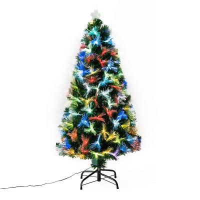 Homcom Christmas Tree Height 120 Cm + Star And Fiber Optic