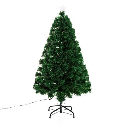 HomCom Christmas Tree + LED Lights Green Artificial Tree Φ60x120cm
