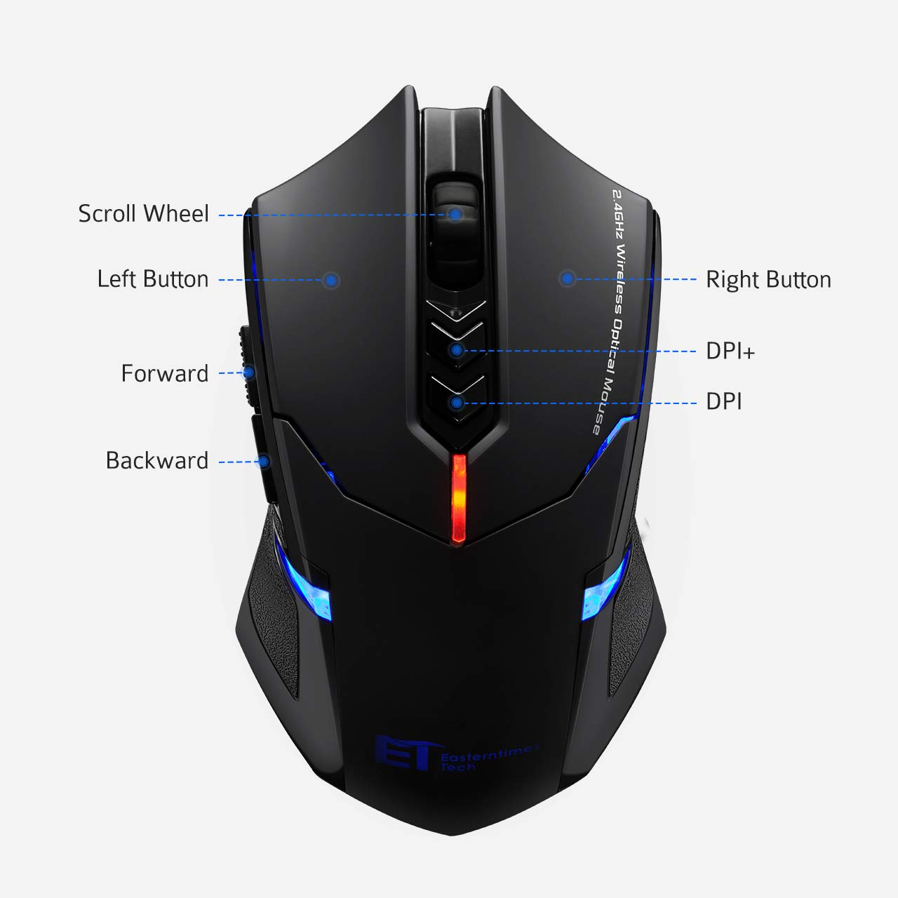 TOPELEK - Number 5 best gaming mouse under 50