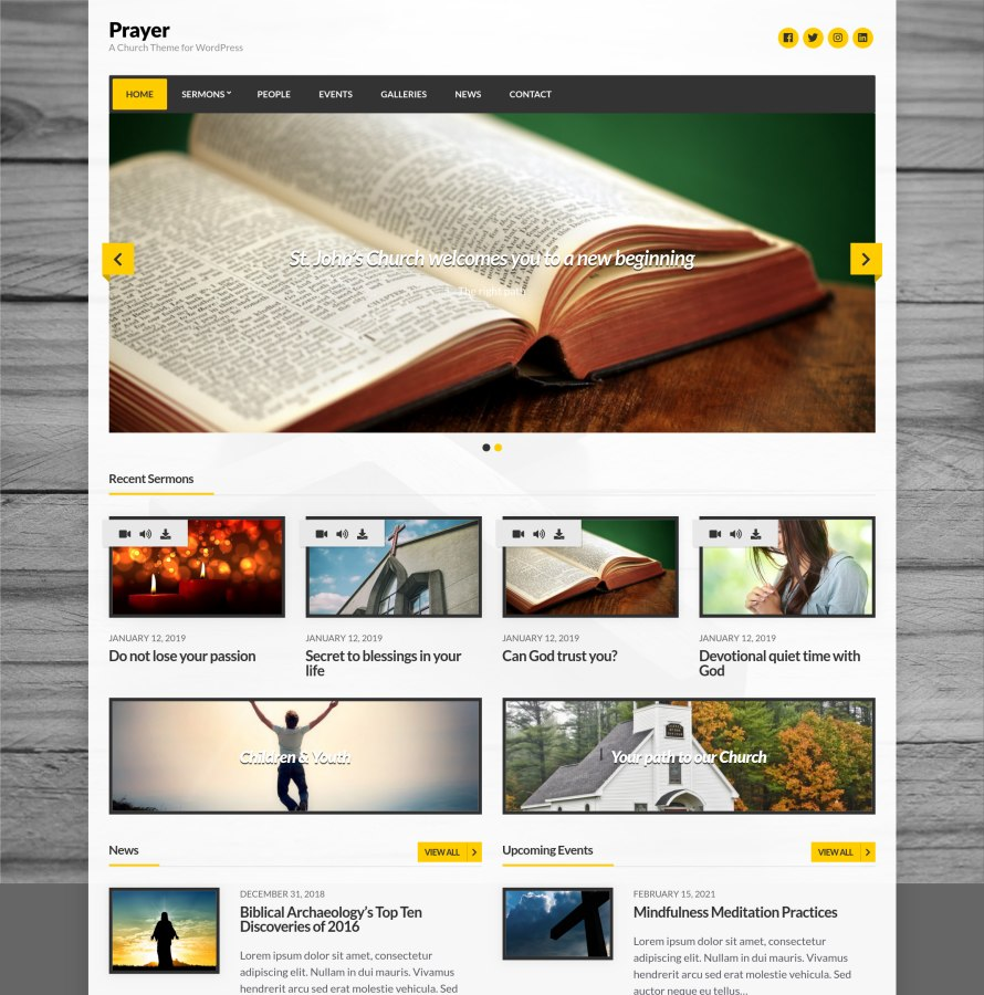 Prayer WordPress Theme
