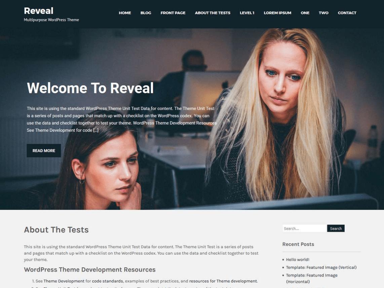 Revel Lite Wordpress Theme
