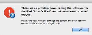 iTunes 9006 error code