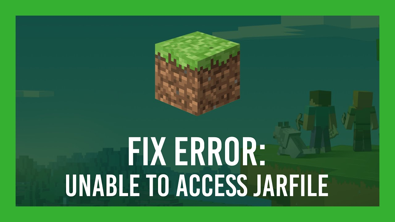 Unable to Access Jarfile Minecraft