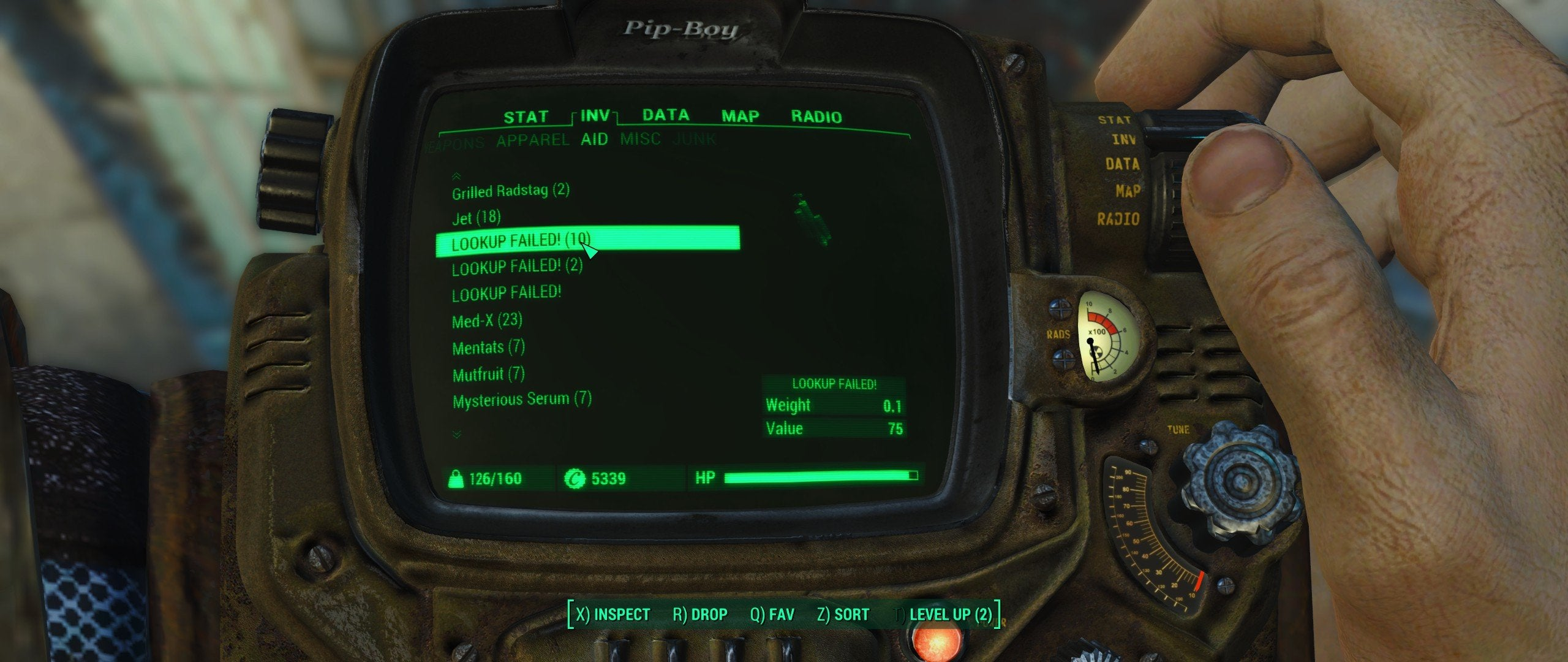 Fallout 4 Lookup Failed Erro